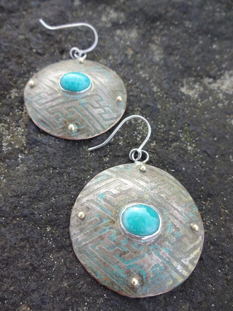 amazonite shi earrings