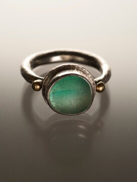 green sea glass ring marcy