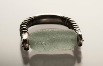 sea glass stopper ring